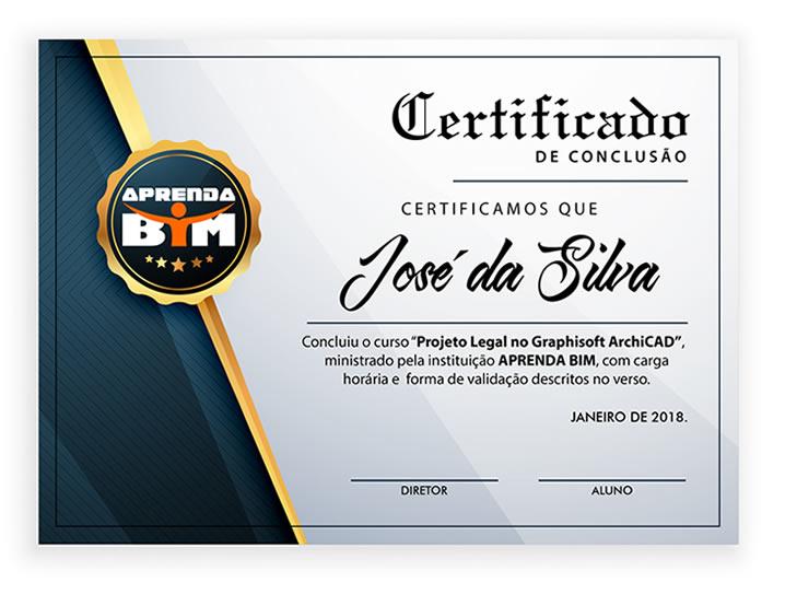 Certificado de Projeto Legal no ArchiCAD